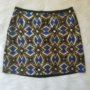 Lush| EUC All over Sequins Party Mini Skirt
